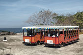 Travia Buses in Corregidor Island, Philippines. — Stock Photo