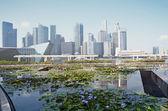 Singapor skyline — Stock Photo