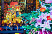 Altar in a Taoist temple in Taipei - Taiwan. — Stock Photo