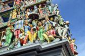 シンガポールでのスリ マリアマン ヒンドゥー教寺院. — ストック写真