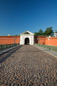 The bridge and gate. Peter and Paul Fortress. St. Petersburg. Ru — Stock Photo