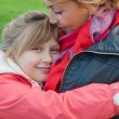 Stock Photo: Mother and daughter in park for walk