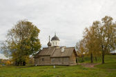 Wooden Church. Demetrios in the fortress Old Ladoga. — Stock Photo