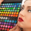 Makeup Applying. Make-up artist applying — Stok Fotoğraf #29589981