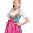 Young Bavarian woman in dirndl. — Stock Photo #33235417
