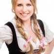 Young Bavarian woman in dirndl. — Stock Photo