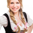 Young Bavarian woman in dirndl. — Stock Photo #33445145