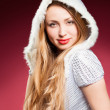 Beautiful sexy girl wearing santa claus — Stock Photo