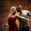 Young couple dances Caribbean Salsa — Stock Photo #42259703
