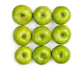 Green apple isolated over white background — 图库照片