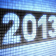 2013 on screen — Stock Photo