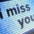 Stock Photo: I miss you