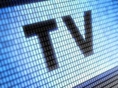 Tv on panel — Stock Photo