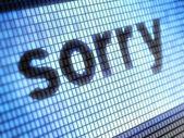"""""""Sorry"""" — Stock Photo"""