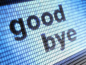 Good bye — Foto de Stock