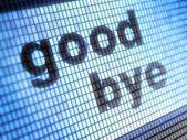 Hej då再见 — Stockfoto