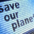 Stock Photo: Save our planet