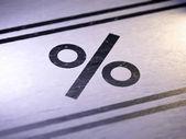 Percent — Stock Photo