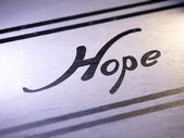 """hope"" on paper — Stock fotografie"