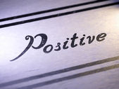 Positive — Stock Photo
