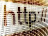 """""""http"""" auf dem bildschirm — Stockfoto"""