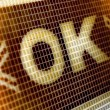 "Stock Photo: ""ok"" on screen"