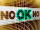 """ok"" auf dem bildschirm — Stockfoto"