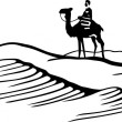 Bedouin on horse — Vector de stock #12402926