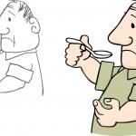 Man taking drug — Stock Vector #12402964