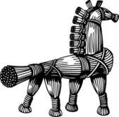 Straw horse — Stock Vector