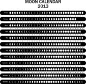 Moon calendar 2013 — Vector de stock