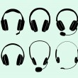 Headphones — Image vectorielle