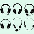 Headphones — Stockvectorbeeld