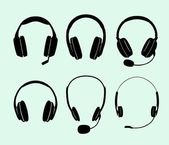 Headphones — Stockvector