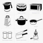 Mutfak eşyaları — Stok Vektör