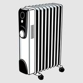 Electric heater — Vettoriale Stock