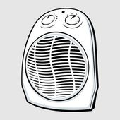Elektrikli ısıtıcı — Stok Vektör