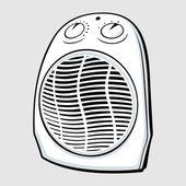 电加热器 — 图库矢量图片