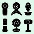 Stock Vector: Web cameras
