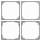 Decorative menu frames — Stok Vektör