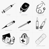 Dispositivos médicos — Vector de stock
