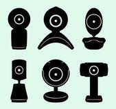 Web cameras — Stock Vector