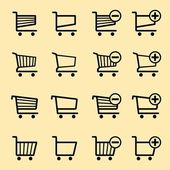 Nákupní vozíky — Stock vektor