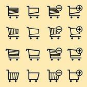 Wózki sklepowe — Wektor stockowy