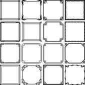 Decorative simple frames — Stock Vector