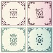 Decorative text frames - Stock Vector