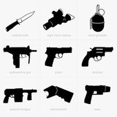 Hand weapons — Stockvector