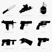 Handwapens — Stockvector