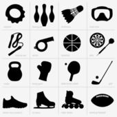 Sports equipments — Stock Vector