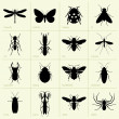 Insects — Stockvectorbeeld